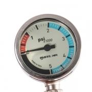 Манометр Mares XR диаметр 52 мм с резиновым шлангом 56 см