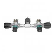 Манифолд 140мм (5-7л) с изолятором радиальный в комплекте с вентилями 230bar O2 очищенный BTS